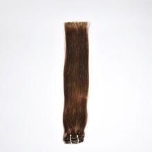 Natural straight brown clip in hair extensions for african american