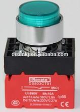 22mm electrical push button, illuminated push button