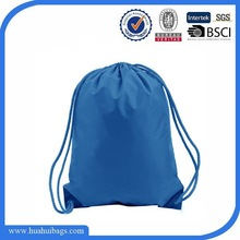 Small blue nylon draw string bag