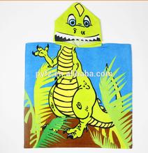 cotton hooded kids beach towel