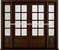 Teinté double extérieures. mohagany prémontées portes en bois massif avec 2 le côté lites s16-30