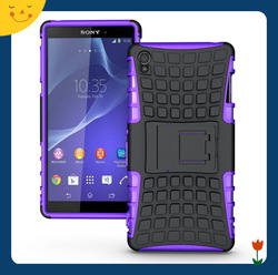 Wholesale! Factory price shockproof hybrid hard case for Sony xperia Z3 custom mobile phone hard case cover