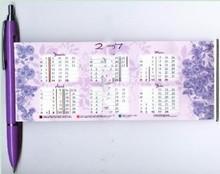 New Design Advertising Promotional Flag Pen With Calendar