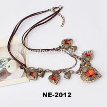 2014 fashion accessories retro leather cord necklace