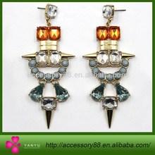 Fashion gold chandeliers dangle diamond crystal earring