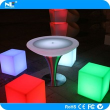 Glowing RGB LED cube chairs and tables / party LED light cube