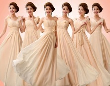 Customized Size Color Champagne Bridesmaid Dresses group elegant different styles popular 2014 new arrival 03