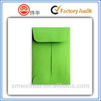 high quality Green custom printed coin envelopes