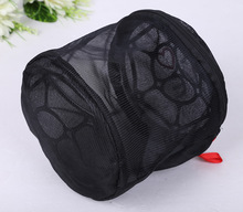 fashion black cylinder shape wash net bag for bra