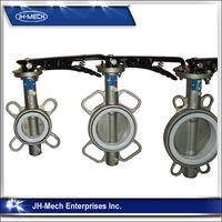 OEM flange connection 1 inch double flange butterfly valve
