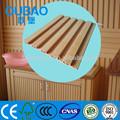 Lascas de madeira + pvc + carbonato de cálcio composto plástico de madeira da parede da placa