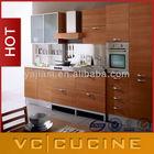 Guangzhou natural teak wood kitchen cabinet