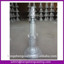 square post street decorative cast aluminum bollard