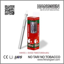 2014 hangsen new vaporizer pen atomizer hayes twist with Christmas package most popular products