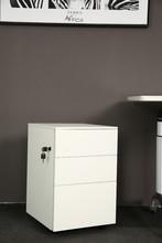 office furniture 3 drawer MFC steel mobile pedestal