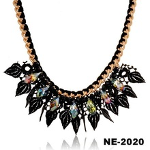 Fashion Women Black Jewelry Spring Gold Chain Necklace Collars