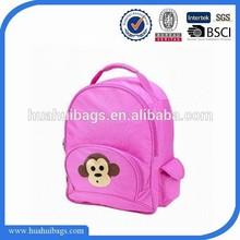 Lovely monkey kids name brand school bag 2015
