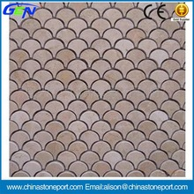 Fish Scale Shape Marble Mosaic Tile