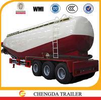 42cbm powder tank semi trailer truck bulk cement tank tailer
