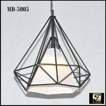 FLOSE MD-5005-1 American iron cage pendant led light,commercial led iron cage pendant lighting,pendant hanging iron led lights.