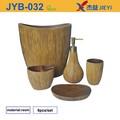 Venta al por mayor 5 piezas de madera cuarto de baño accesorios, cuarto de baño accesorios, cuarto de baño set
