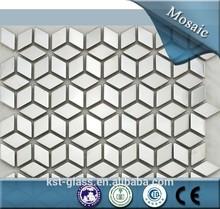 Venta al por mayor de metal pulido rhombus mosaico azulejo