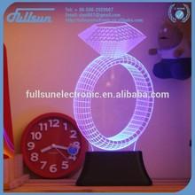 3D diamond ring shape christmas led lights FS-2816