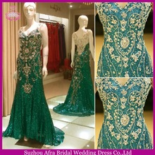 SW302 sexy beckless sequin beaded cheap turquoise prom dresses