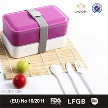 Microwave BPA Free Plastic Food Container with cutlery 1200ml from China