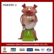 Metal Piggy Sculpture Bottle Cover