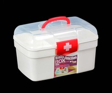 Promotional plastic first aid kit with tray