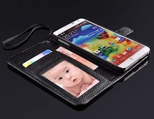 Real leather case for Samsung Galaxy Note 3 wallet purse