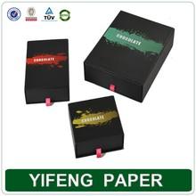 black cardboard high quality chocolate paper box / paper packaging chocolate match box
