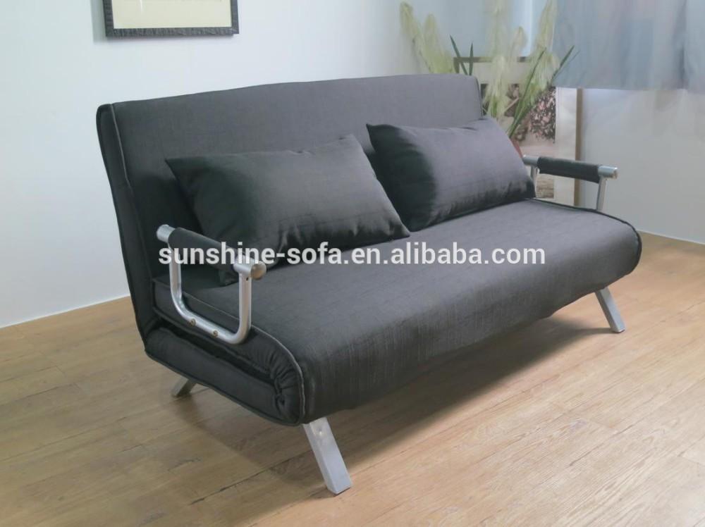 Modernen wohnzimmer stahlkonstruktion billigen stoff schlafsofa falten futon schlafsofa china Sofa aufblasbar