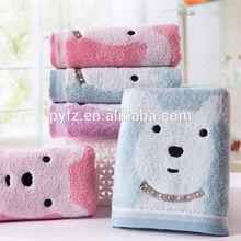 custom terry towel exporters printed bear hand towel