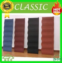 top grade sun stone coated roof tile for villa