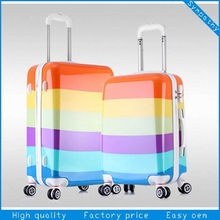2015 New colorful printing hardside travel luggage