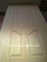Natural ash wood veneer moulded MDF/HDF/plywood door skin