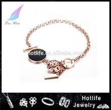 2015 charm new rose gold stainless steel sailor knot bracelet