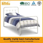 Cheap high quality metal single bed for sale hot selling new fashion style metal frame