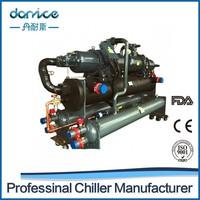 CE 380 KW Double Bitzer Semi-hermetic Screw Compressors Water Cooled Screw Chiller