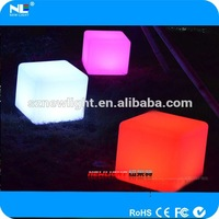 2014 hot sales LED cube stool / LED Cube chair / LED indoor plastic furniture for bar nightclub decoration