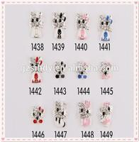 Charms Miss Girl Favorite Famous Designer Cute Cat Cartoon Nail Art Design Pictures