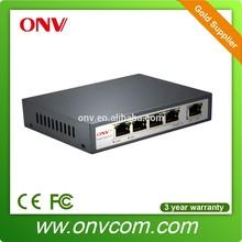 4 port Ethernet Network with 1 uplink port POE Switch (IEEE802.3AF)