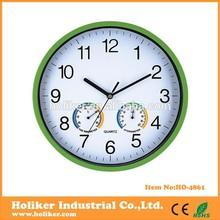 Weather station plastic quartz wall clock