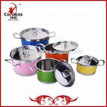 10Pcs Pop Sale Stainless Steel Color Soup Pot