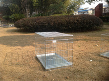 Cheap outdoor zinc plated Folding dog cage