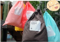 4x Travel Drawstring Storage Bag Shoe Laundry Lingerie Makeup Pouch Waterproof
