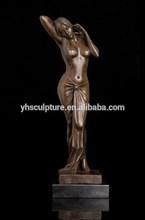 bronze nude statue woman sculpture