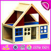 2015 Fashion wooden toy doll house for kids,modern wooden toy house for children,best seller wooden toy house for baby W06A070